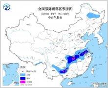黄淮南部至长江中下游有