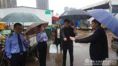 未央区孙志群副区长冒雨