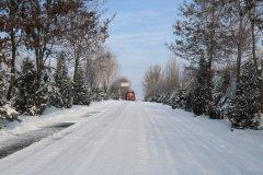延安冬天雪景